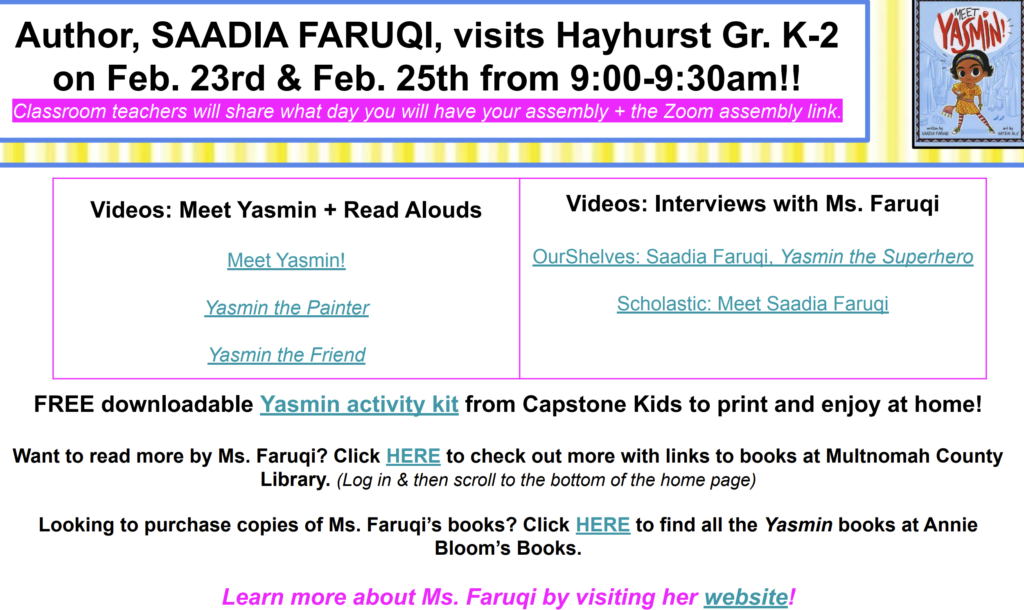 Flier for Author Event; Click to open the flier in PDF format with clickable links