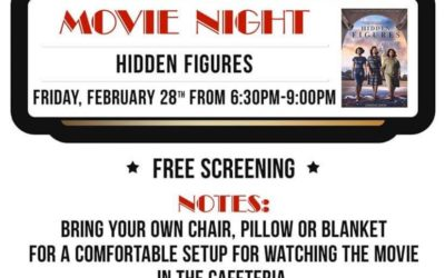 Movie Night at Hayhurst – Hidden Figures On February 28th