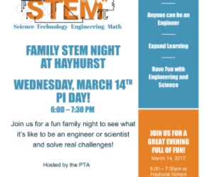 Join Us for Hayhurst STEM Night on March 14th + Volunteer Opportunities