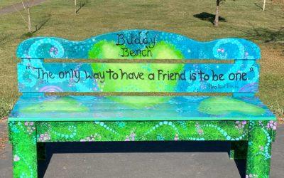 New Buddy Bench for the Hayhurst Playground