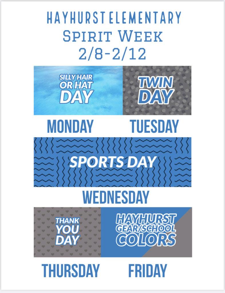 Flier Hayhurst Spirit Week