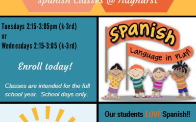 After School Program – Spanish Classes Starting January 2019 (K-3rd)
