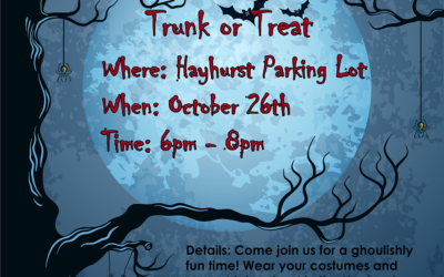 Trunk or Treat 2018 – Invite + Call for Trunks + Call for Volunteers + Call for Candy