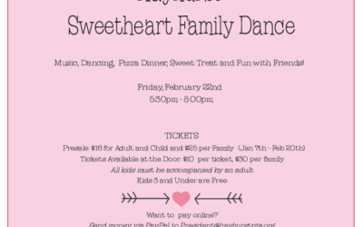 Hayhurst Sweetheart Family Dance – February 22nd